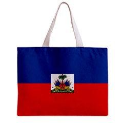 Haiti Flag Tote Bag w/ Zipper.