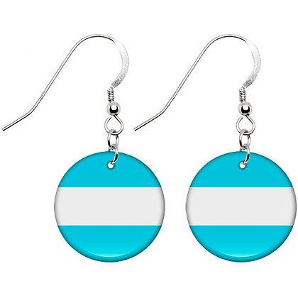 Argentina Flag Earrings
