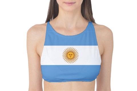 Argentina Flag Tank Bikini Top