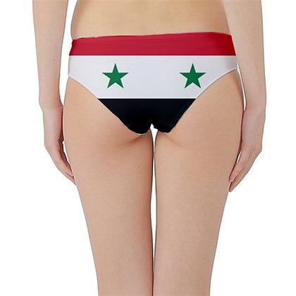Syria Flag Hipster Cheeky Bikini Bottoms