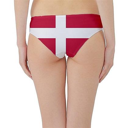 Denmark Flag Hipster Cheeky Bikini Bottoms