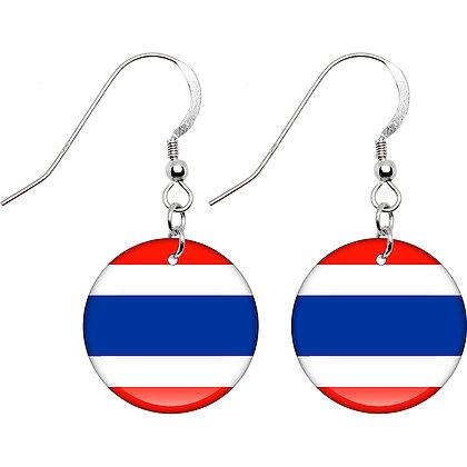 Thailand Flag Earrings