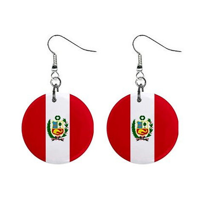 Peru Flag Earrings