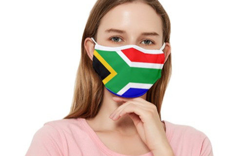 Globalkinis South Africa Flag Face Mask