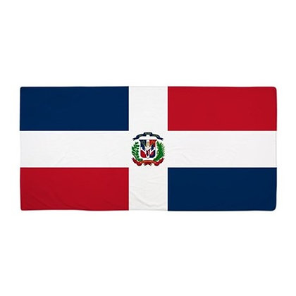 Dominican Republic Flag Beach Towel