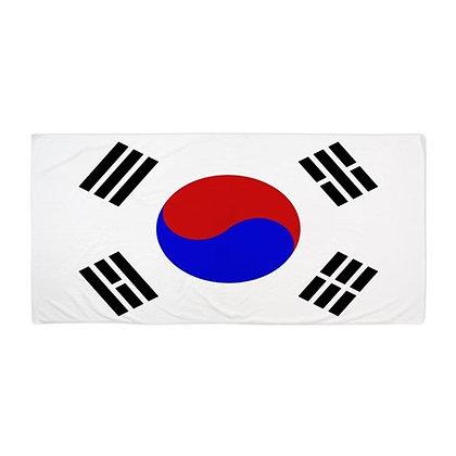 South Korea Flag Beach Towel