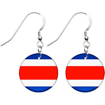 Costa Rica Flag Earrings