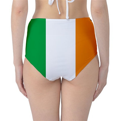 Ireland High Waist Flag Bikini Bottoms