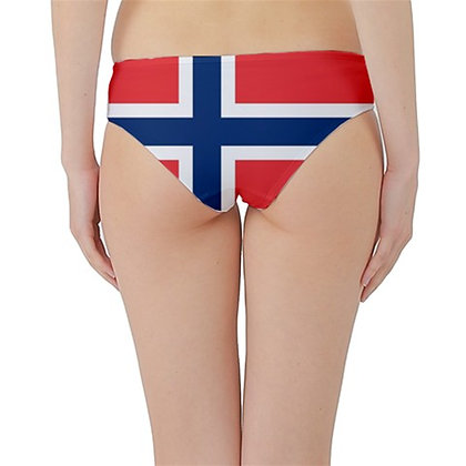 Norway Flag Hipster Cheeky Bikini Bottoms