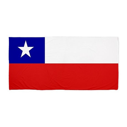 Chile Flag Beach Towel