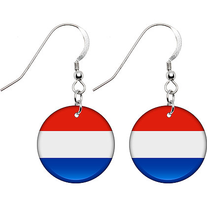 Netherlands Flag Earrings