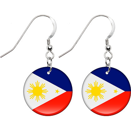 Philippine Flag Earrings