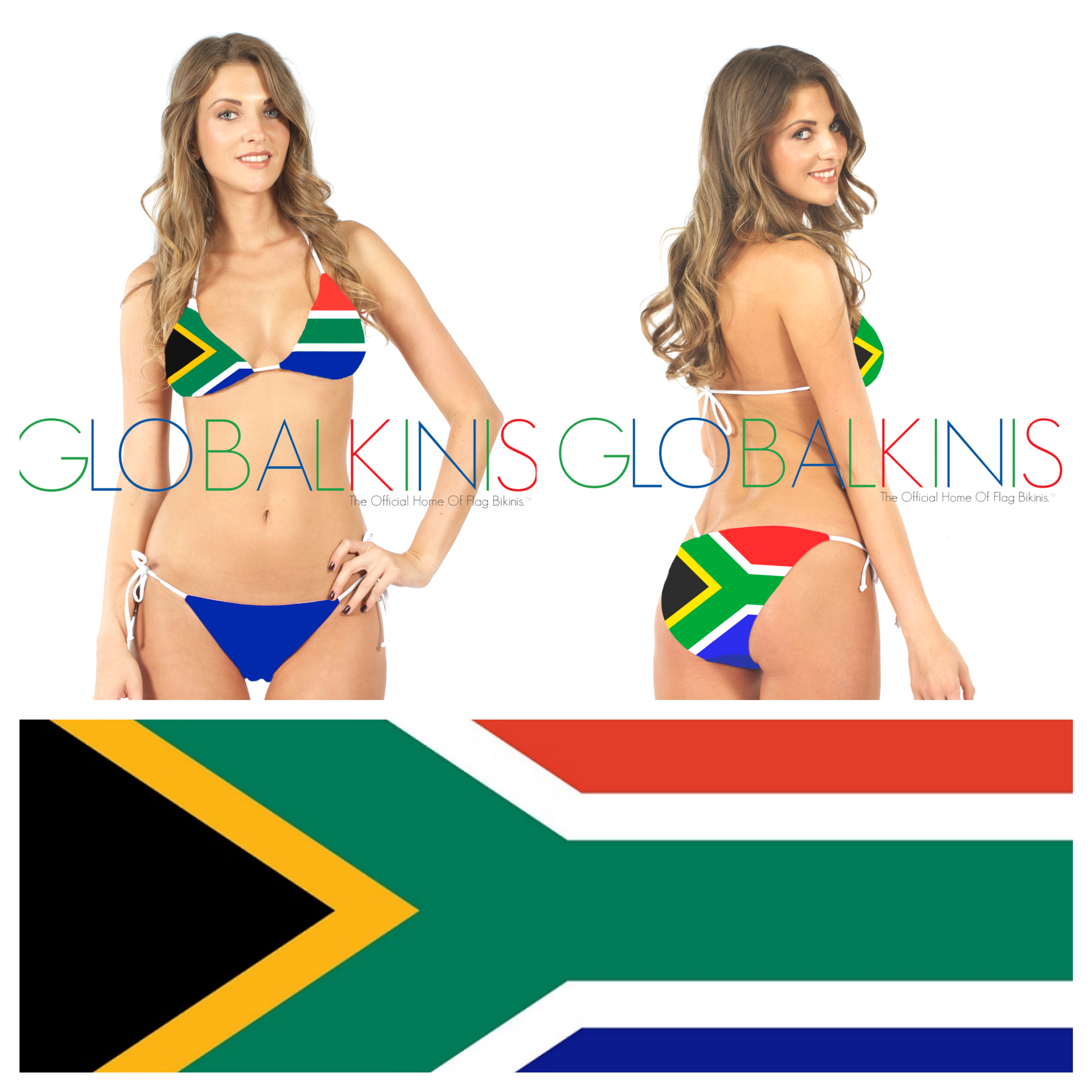 South Africa Flag Bikini