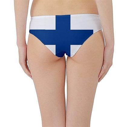Finland Flag Hipster Cheeky Bikini Bottoms
