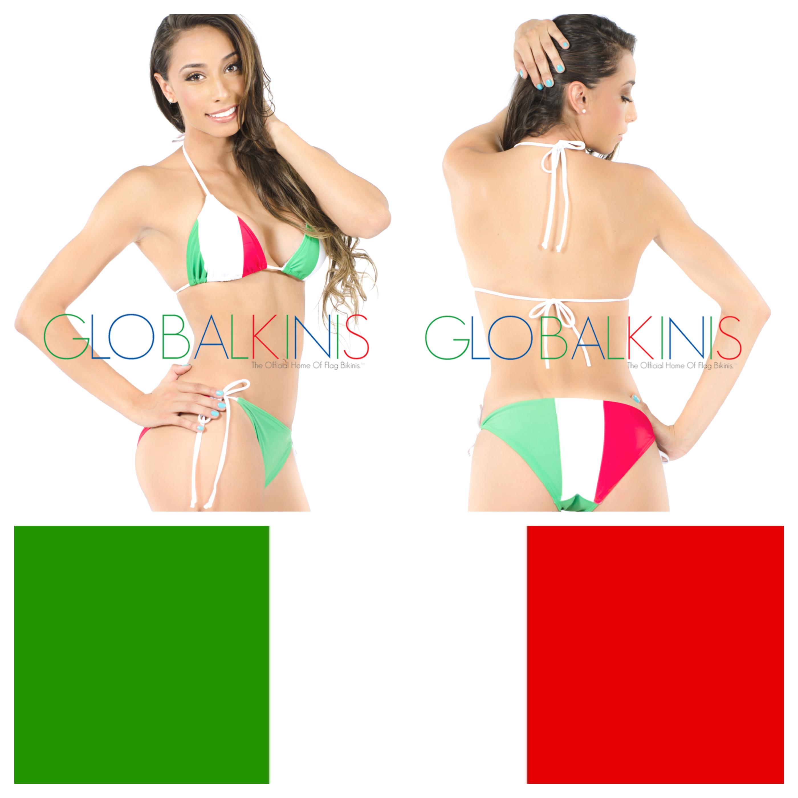 Italy Flag Bikini