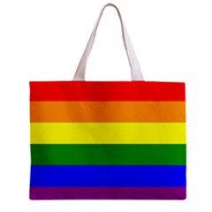Rainbow Flag Tote Bag w/ Zipper.