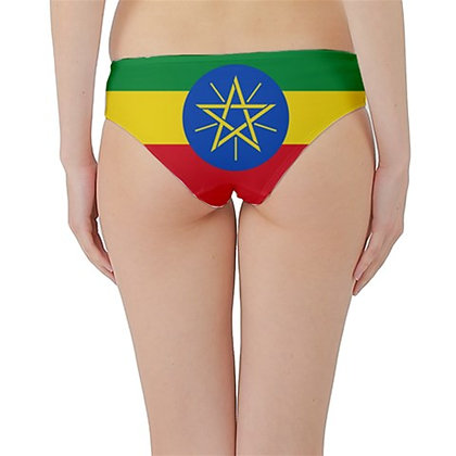 Ethiopia Flag Hipster Cheeky Bikini Bottoms