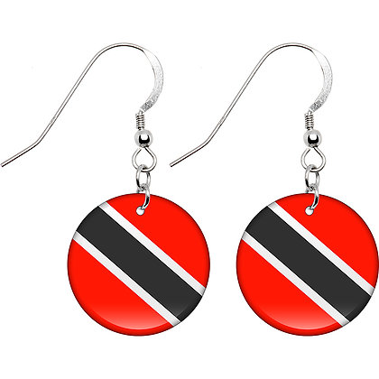 Trinidad Flag Earrings