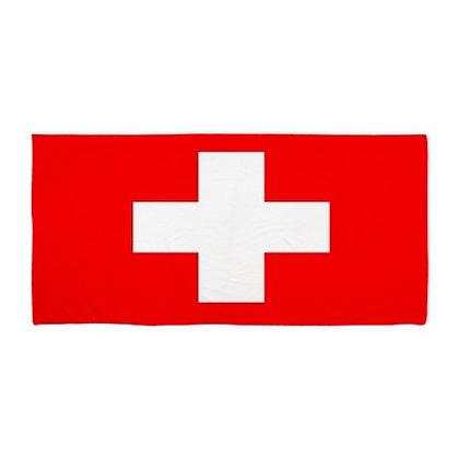 Switzerland Flag Beach Towel