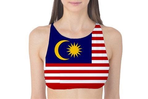 Malaysia Flag Tank Bikini Top