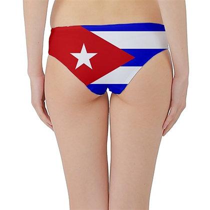 Cuba Flag Hipster Cheeky Bikini Bottoms