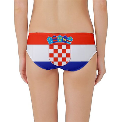 Croatia Flag Classic Bikini Bottoms