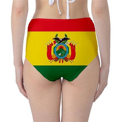 Bolivia High Waist Flag Bikini Bottoms