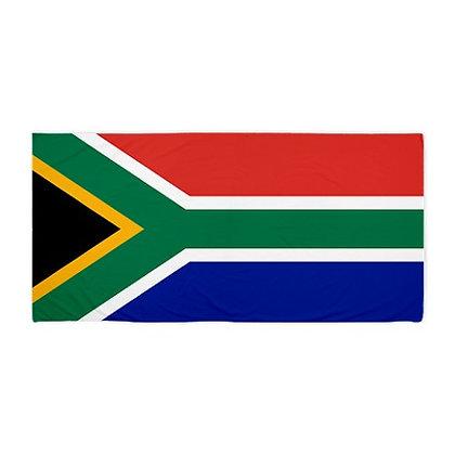 South Africa Flag Beach Towel