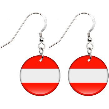 Austria Flag Earrings