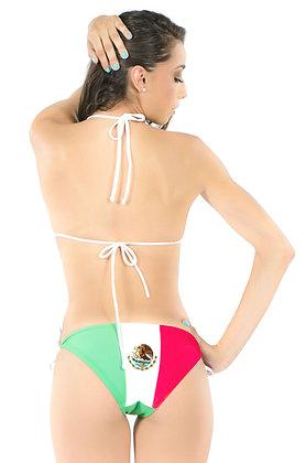 Mexico Flag Bikini Bottom