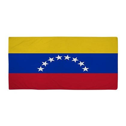 Venezuela Flag Beach Towel
