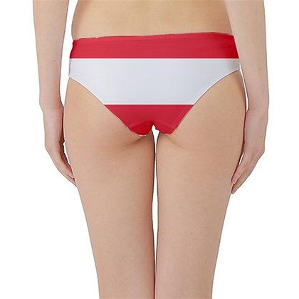 Austria Flag Hipster Cheeky Bikini Bottoms