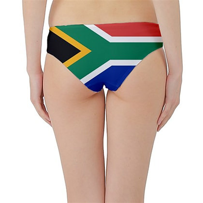 South Africa Flag Hipster Cheeky Bikini Bottoms