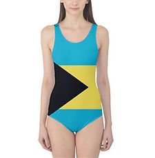 Globalkinis Bahamas Flag One Piece, Globalkinis Bahamas Swimsuits, Bahamas Flag Swimsuit