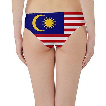 Malaysia Flag Hipster Cheeky Bikini Bottoms