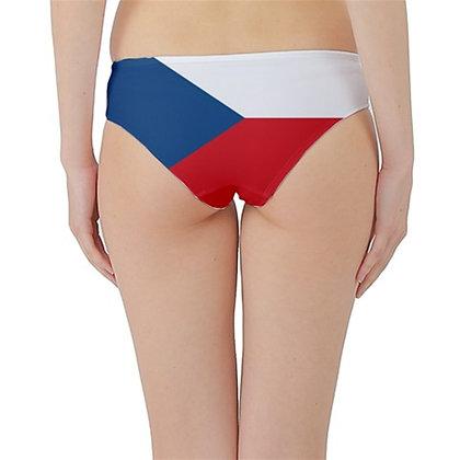 Czech Republic Flag Hipster Cheeky Bikini Bottoms