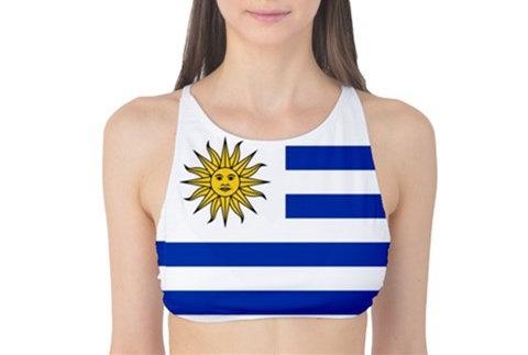 Uruguay Flag Tank Bikini Top