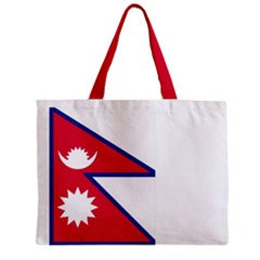 Nepal Flag Tote Bag w/ Zipper.
