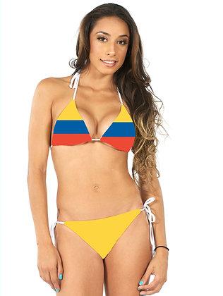 Colombia Flag Bikini Top