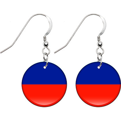 Haiti Flag Earrings