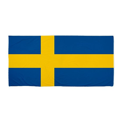 Sweden Flag Beach Towel
