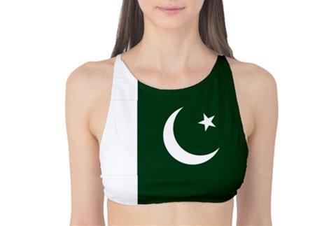 Pakistan Flag Tank Bikini Top