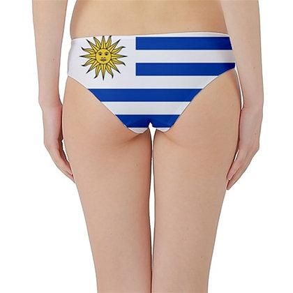 Uruguay Flag Hipster Cheeky Bikini Bottoms