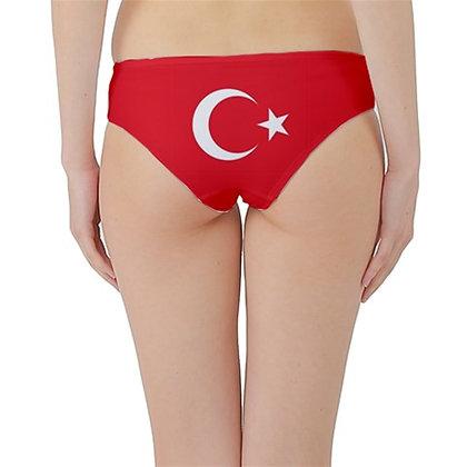 Turkey Flag Hipster Cheeky Bikini Bottoms