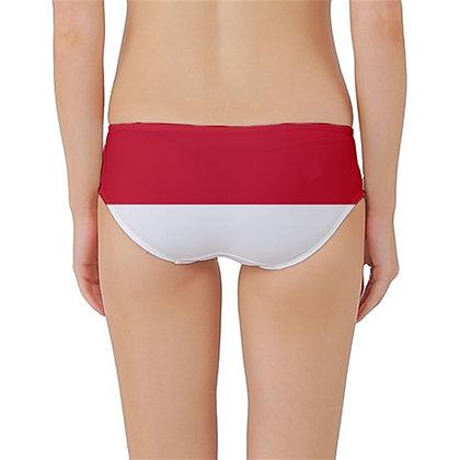 Indonesia Flag Classic Bikini Bottoms