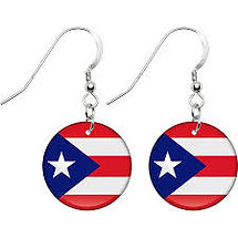 Puerto Rico Country Flag Earrings, Globalkinis Puerto Rico Earrings