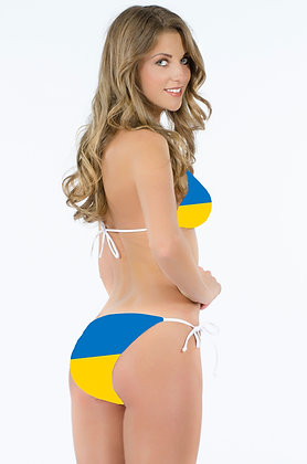 Ukraine Flag Bikini Bottoms