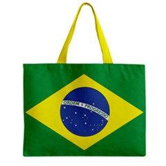 Brazil Flag Tote Bag w/ Zipper.