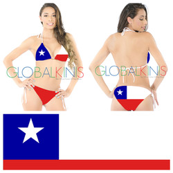 Chile Flag Bikini