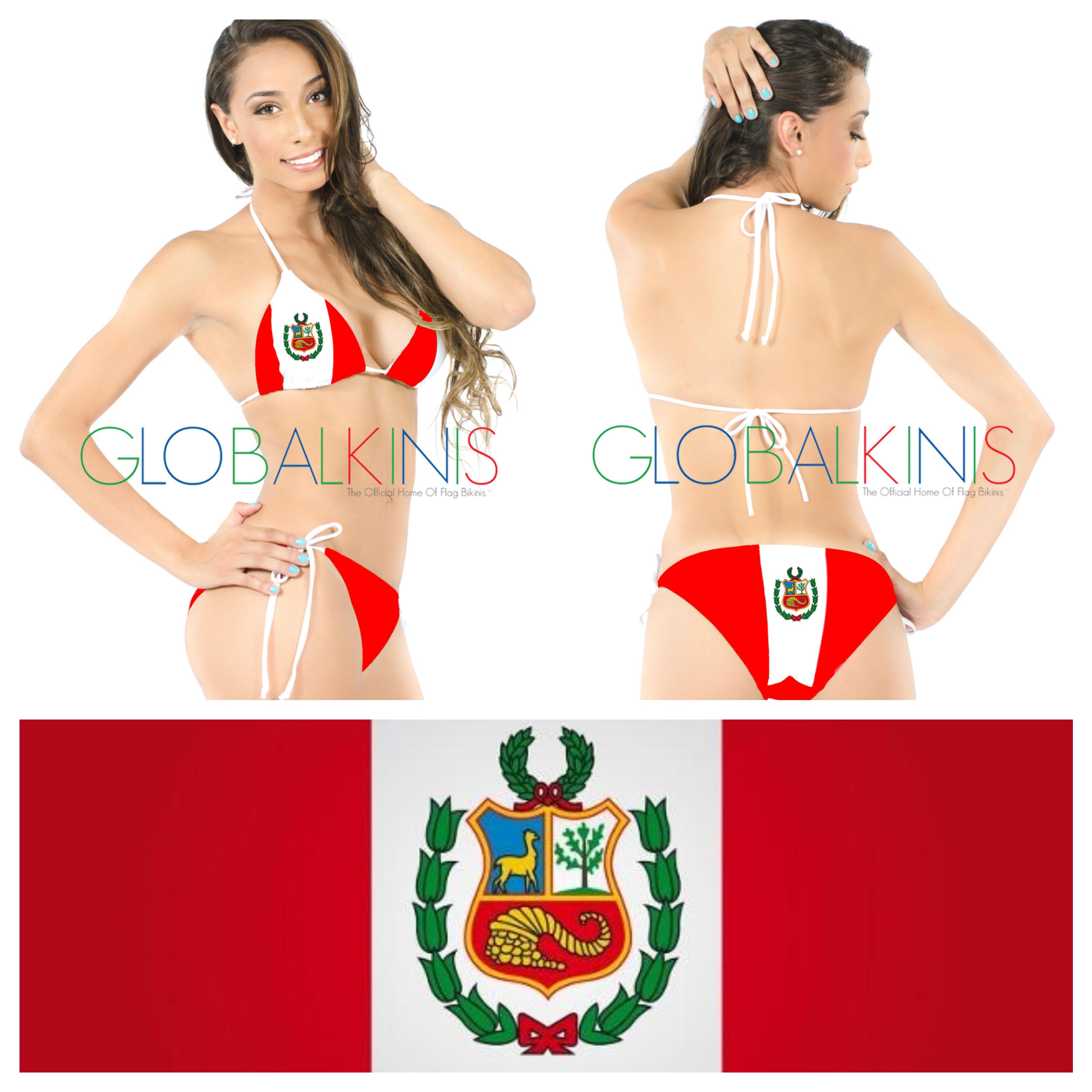 Peru Flag Bikini